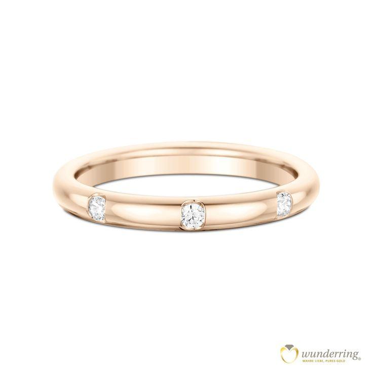 Diamantringe rosegold  24 besten Diamantringe Bilder auf Pinterest | Eheringe, Trauring ...