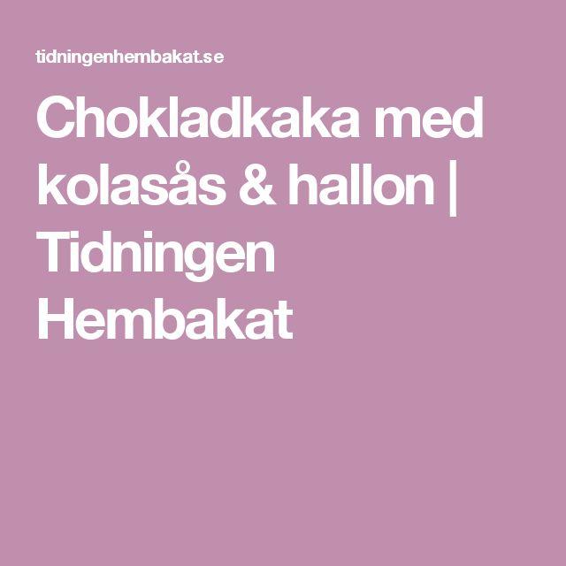 Chokladkaka med kolasås & hallon | Tidningen Hembakat