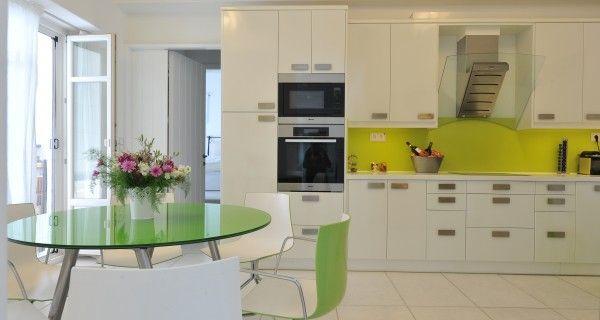 Kitchen table of Moonlight Villa in Paros Greece. http://instylevillas.net/property/moonlight-villa-paros/