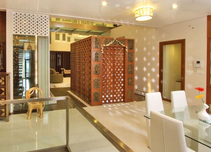 Stand Alone Wooden Pooja Mandir Designs