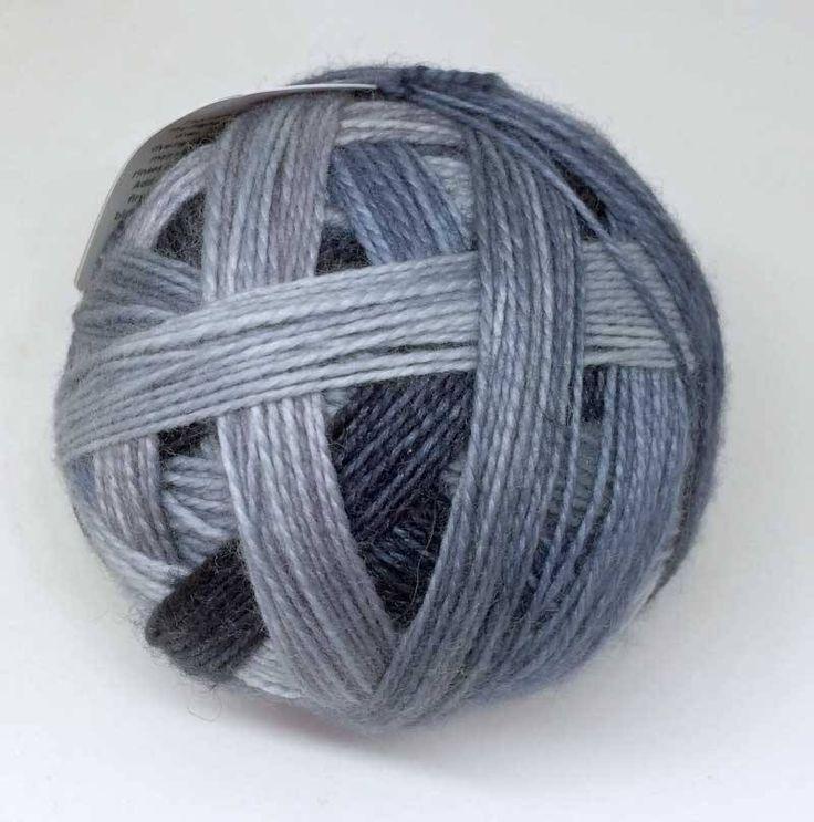 Luxury Sock Hand-dyed Self-striping 100g 4 ply Fingering Wool Yarn Stormy Grey by HeatherMaid on Etsy