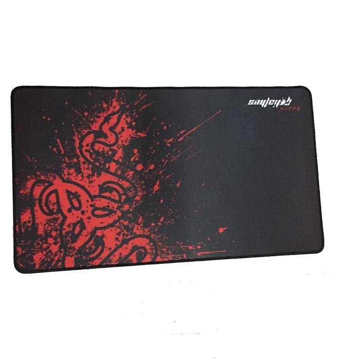 Большой размер 27.55 * 15.75 дюймов Goliathus Fragged мягкий управление скоростью XL большой коврик для мыши игровой компьютер коврики красный