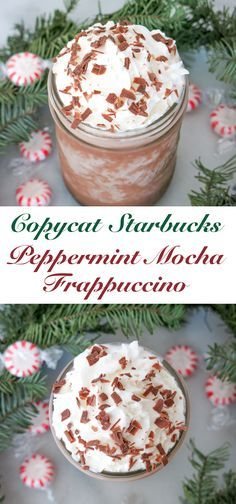 Try out this copycat Starbucks Peppermint Mocha Frappuccino! Good all year round!
