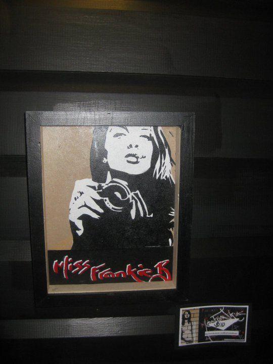 Stencil on board