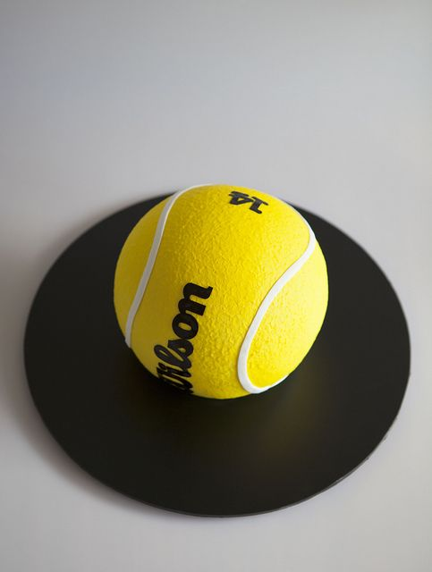 Tennis Ball by Sweet Tiers, via Flickr  Cant get over how perfect this tennis ball cake looks!