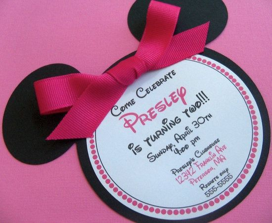 Minnie party invite