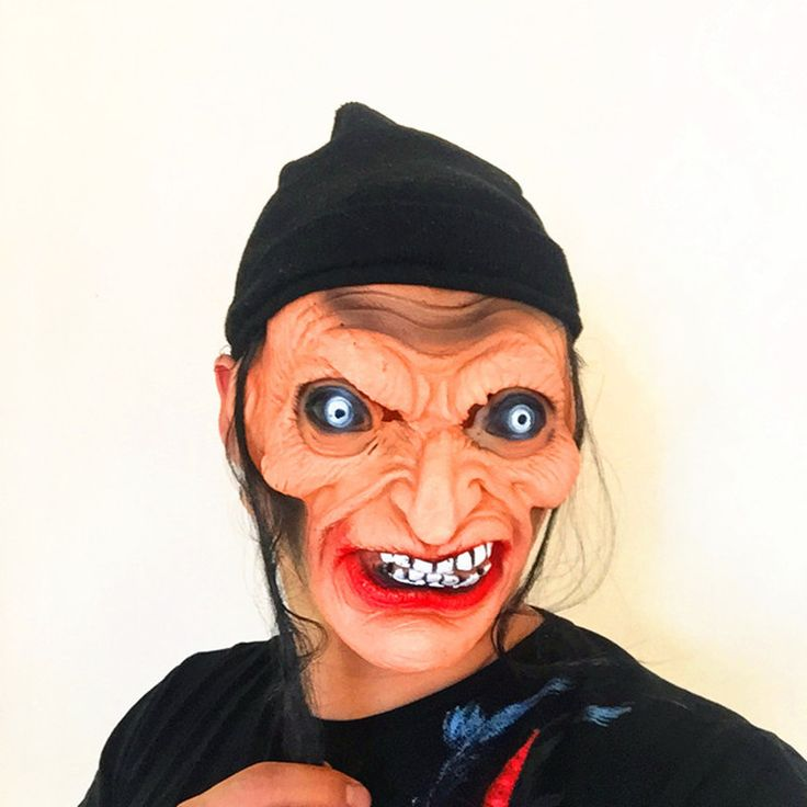 1pcs Halloween Horror Witch Mask Halloween Props Grudge Ghost Hedging Zombie Mask Realistic Silicone Masks Masquerade Ball