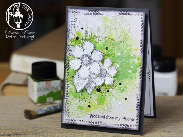 mixed media card, stamps, Heartfelt Creations Botanical Rose