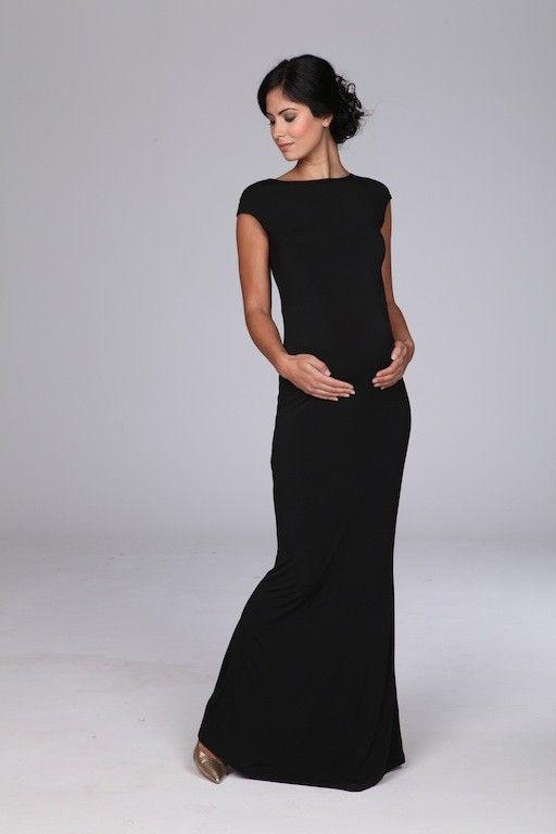 beaucute.com black-maternity-maxi-dress-05 #maternitydresses