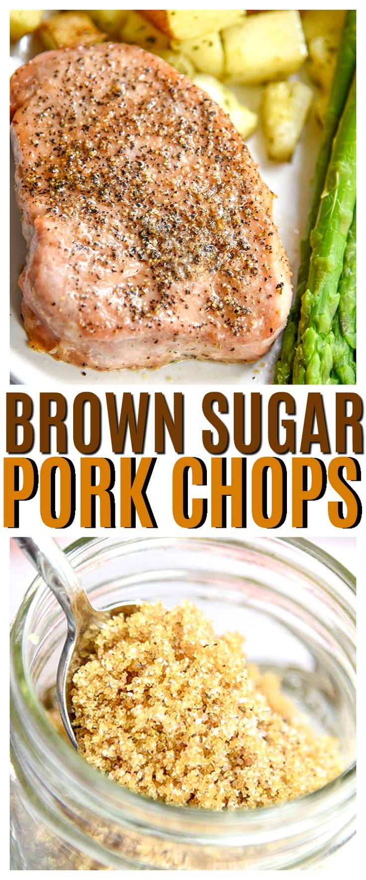 3 Ingredient Brown Sugar Pork Chops will be your new favorite pork chop recipe. If you love easy pork chop recipes this one is made for you! via @CourtneysSweets