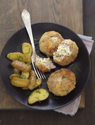 Croquettes de veau pimentées au Bresse Bleu