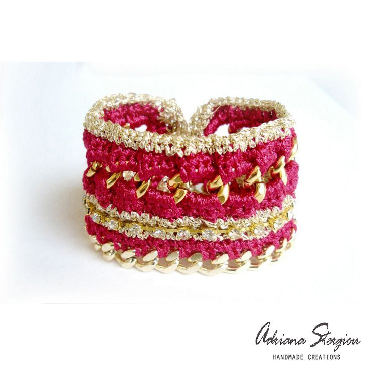 crochet, chain  strass bracelet www.jewelmyday.eu