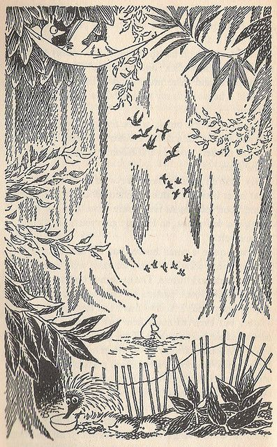 moomin art by Tove Jansson
