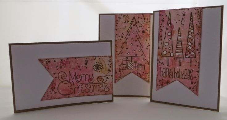 PaperArtsy: Christmas Cards {with Squiggly Ink Stamps by Emma Godfrey}