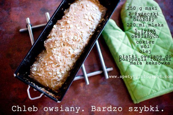 Blog kulinarny: Chleb owsiany. Bardzo szybki.