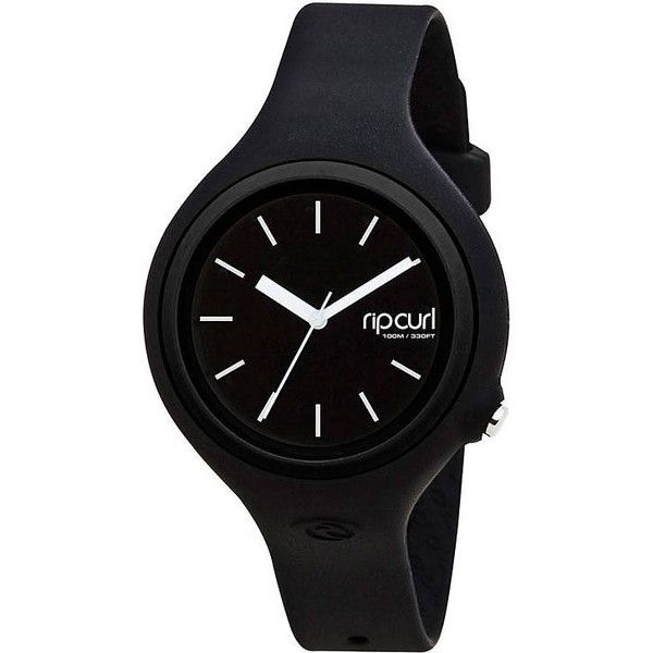 Rip Curl Aurora Watch ($73) ❤ liked on Polyvore featuring jewelry, watches, black, rip curl, waterproof watches, rip curl watches, black watches and black wrist watch