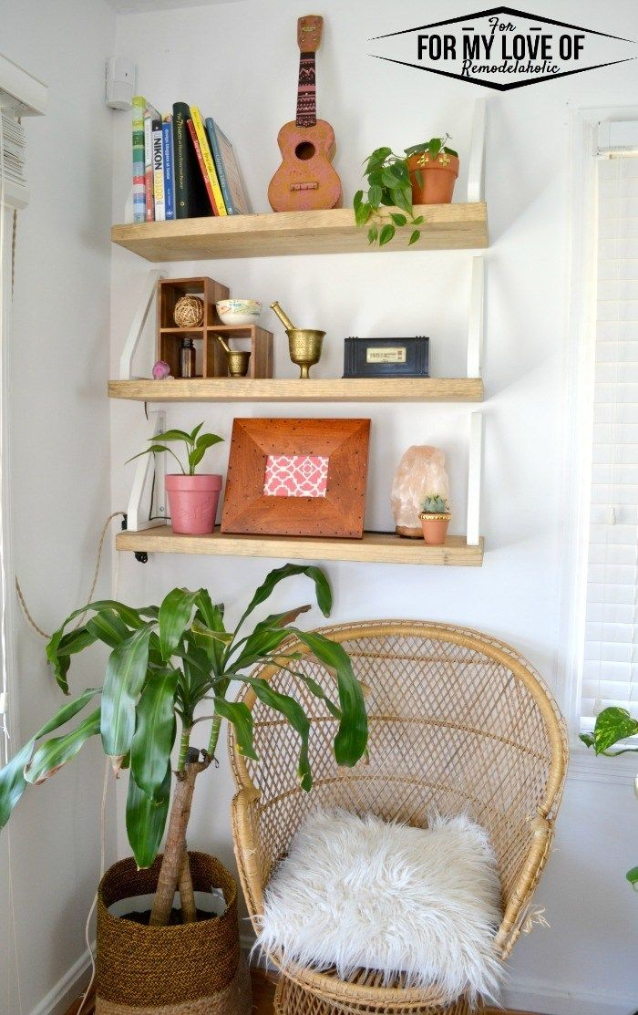 Remodelaholic DIY Wall Shelf + Reverse IKEA Ekby Lerberg