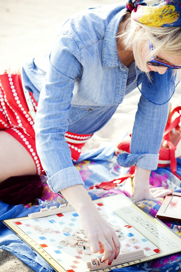 Valentine's Day on the beach styling by Jen Pinkston | photo by Denise Crew for Camille Styles