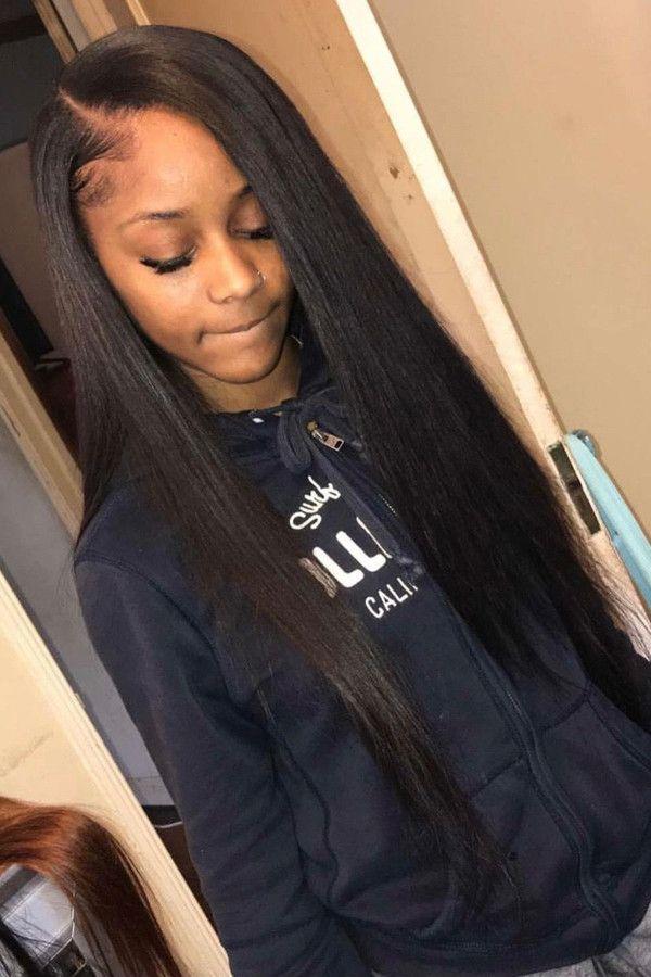 Straight Hairstyles For Black Women 100 Unprocessed Virgin Human Hair Sew In Weave Bundles Weave Hairstyles Straight Hairstyles Virgin Brazilian Straight Hair