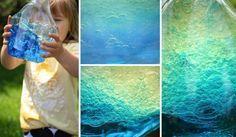 Jednoduchý experiment pro děti – krásný oceán v lahvi