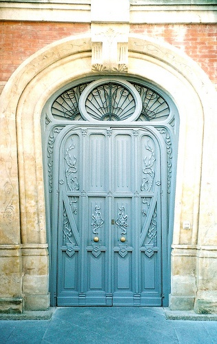 Art Nouveau door, Casa Lis ~ Salamanca, Spain (designed by by Joaquin Vargas, completed in 1905)