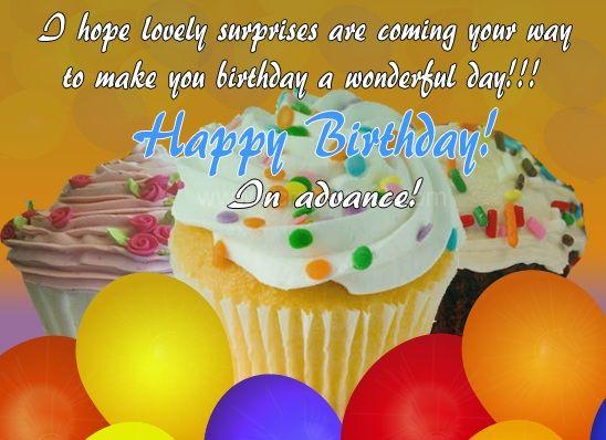Advance happy birthday images