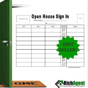 real estate sign in sheet