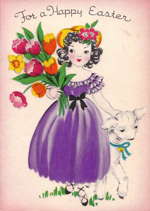 For a happy Easter... #vintage #Easter #cards #cute