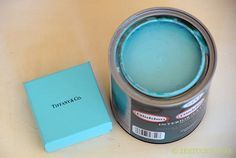 Tiffany Blue Paint mix formula....I want my kitchen to be white with Tiffany blue accents :)