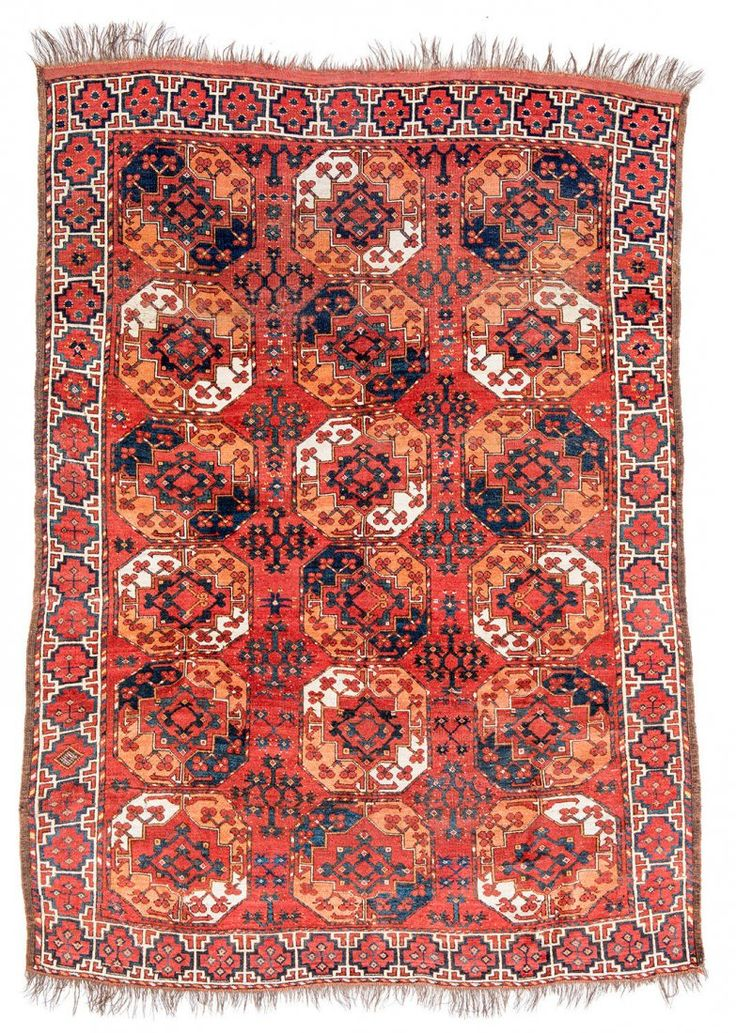 Ersari Main Carpet Turkmenistan Um 1870 8ft 4in X 6ft