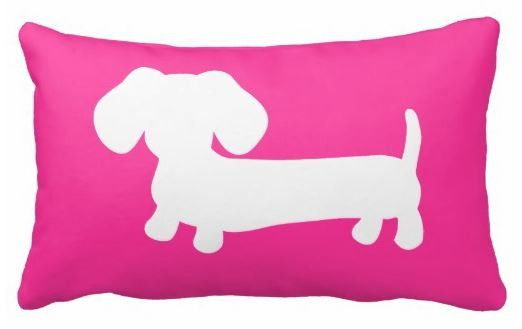 Pillows | Dachshund Silhouette (available in multiple colors) by The Smoothe Store.