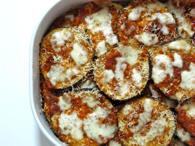Jessica's Easy Baked Eggplant Parmesan