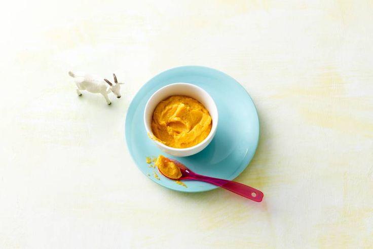 Zoete aardappel is ook lekker om te gebruiken in een babyhapje. Met geitenkaas en noten, bijvoorbeeld - Recept - Allerhande