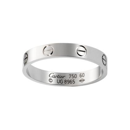Cartier Love Wedding Band White Gold Ref B4085100 1150 00