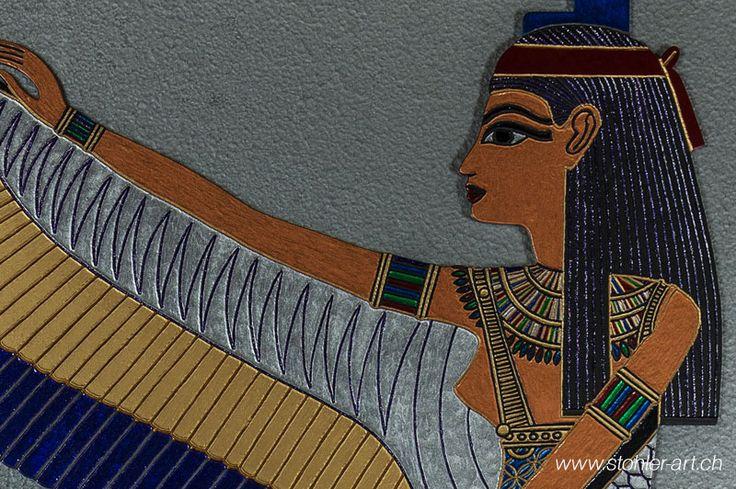 Göttin Isis als Bild aus Metall - stohlerArt
