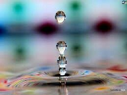 Water drops and makes a variety of colour which is really beautiful