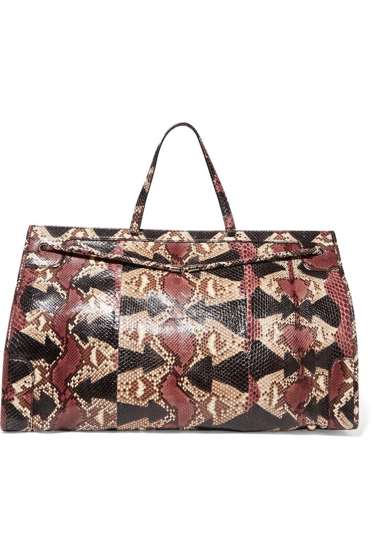 VALENTINO Python Tote. #valentino #bags #hand bags #tote #