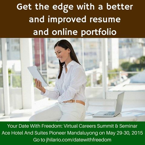 Get the edge with a better and improved resume and online portfolio