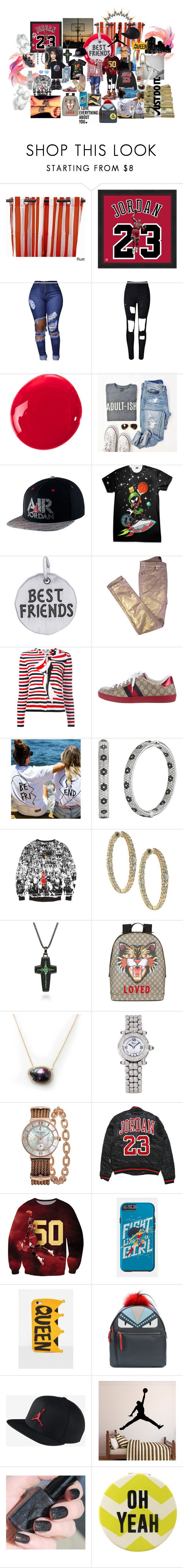 Just Do It With Your Best Friend by mscovered on Polyvore featuring Thom Browne, Zadig & Voltaire, WithChic, Fendi, Gucci, Jordan Alexander, Chopard, Charriol, Rembrandt Charms and NIKE