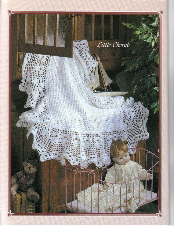 Sale CROCHET PATTERN Heirloom Baby Afghan//Blanket/Shawl