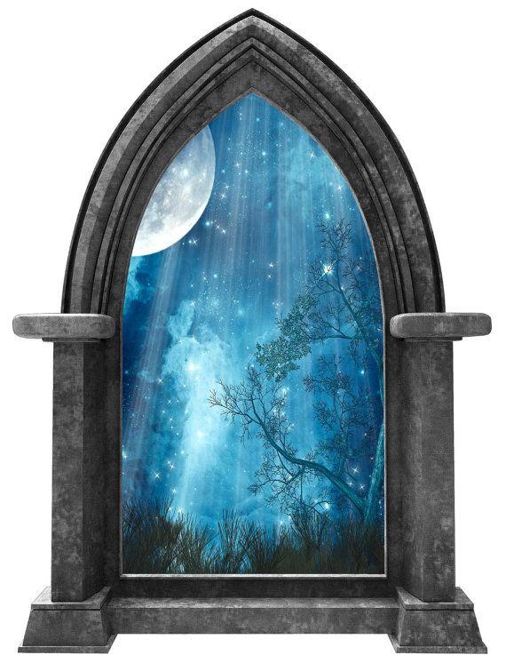 fantasy castle fairy night