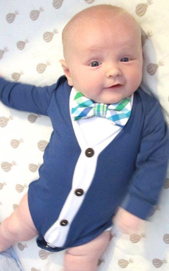 Pinterest Favorite Baby Boy Cardigan Onesies® by LittleAdamandEve