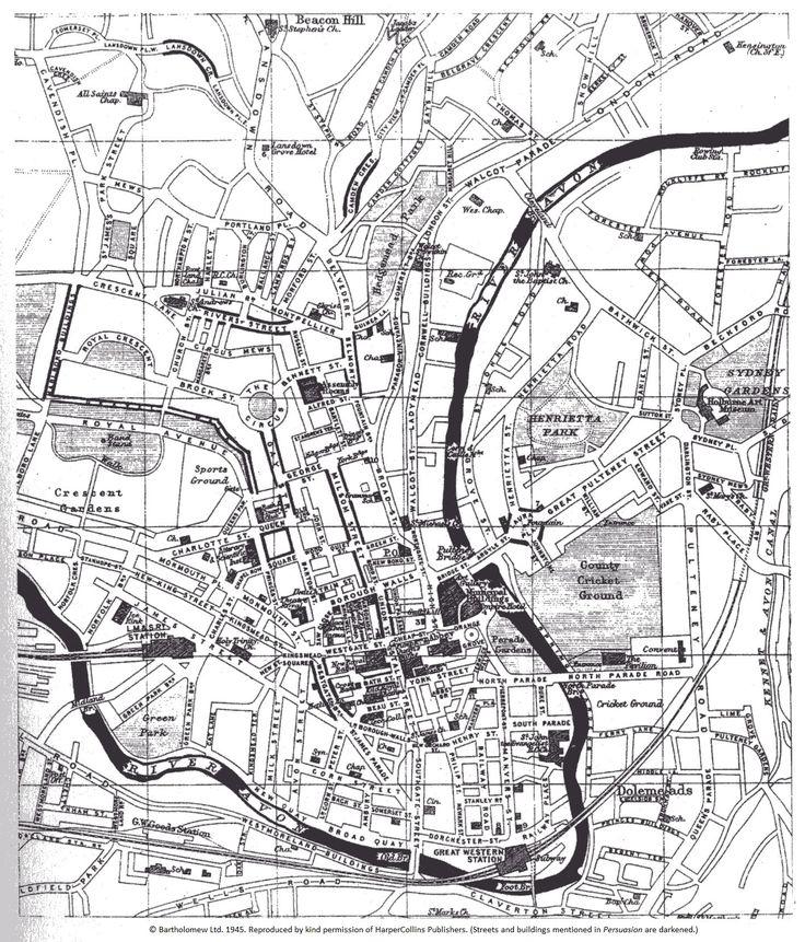 Jane Austen Society of North America -- map of Bath