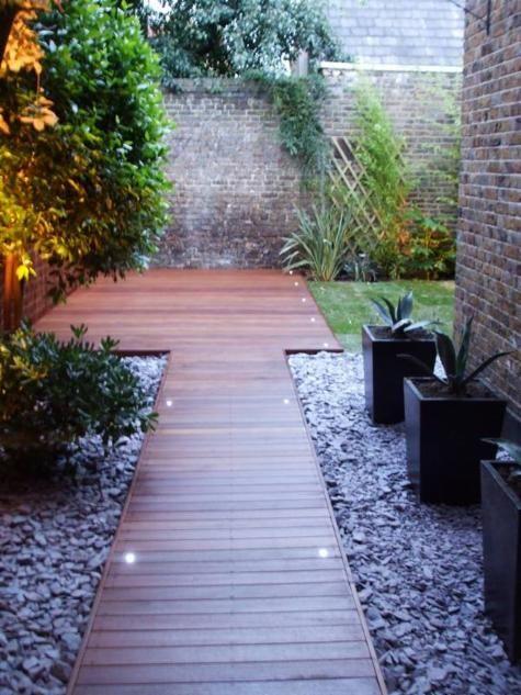Decking - Balau hardwood Purple Slate; Landscape Garden Design and Build London; londongardenbuilders.co.uk