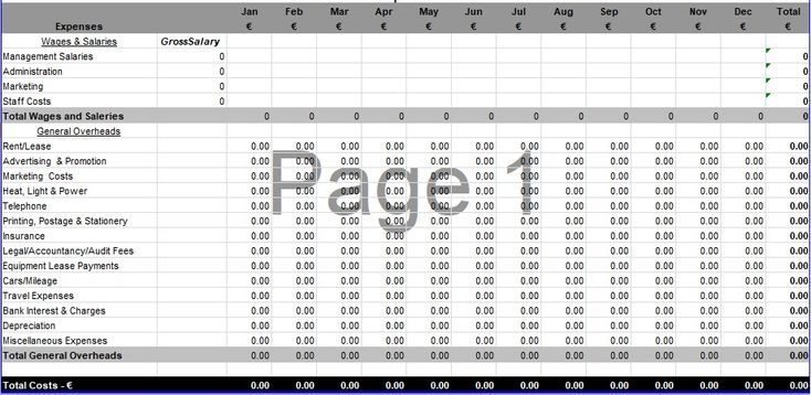 Download Small business spreadsheet for income and expenses