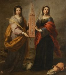 Bartolomé Esteban Murillo. Santas Justa y Rufina. Hacia 1666