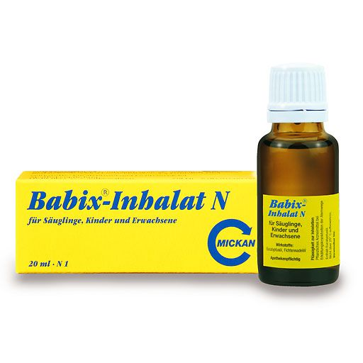 BABIX Inhalat N - Babix-Inhalat N ist ein Arzneimittel für die Behandlung von Erkrankungen der oberen Luftwege, Bronchitis und grippaler Infekte.