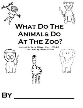 What Do The Animals Do At The Zoo Printable BW Book