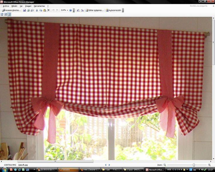 102 best cortinas de sala dormitorio cocina ba os y otros - Que cortinas poner en la cocina ...