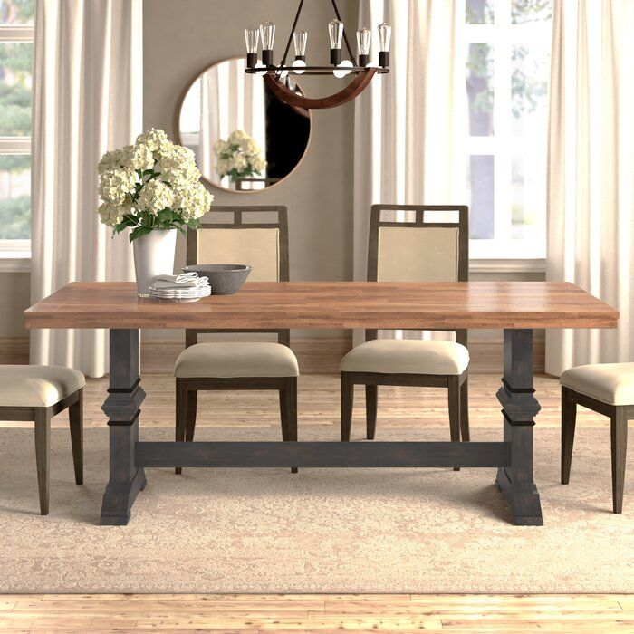 Theodora Solid Wood Dining Table In 2020 Solid Wood Dining Table